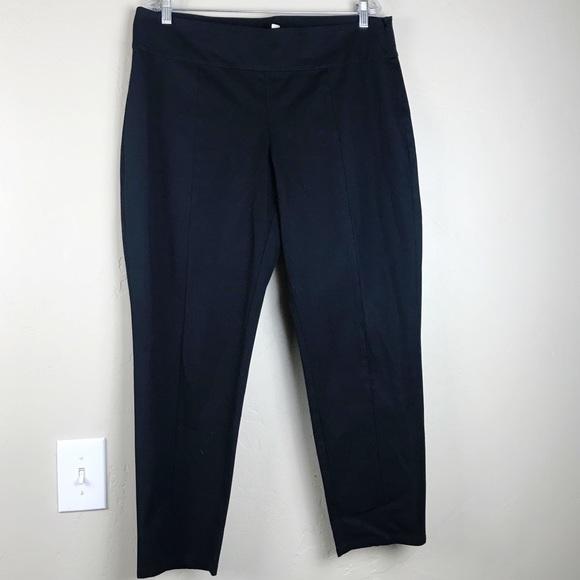 79d7731a012 Eileen Fisher Pants | Organic Cotton Black Trousers Size L | Poshmark